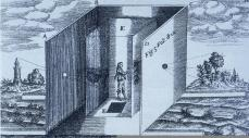 Althanasus Kircher; Large Portable Camera Obscura; 1646; engraving