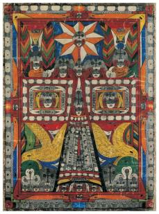 Adolf Wölfli; Holy St. Adolf Tower; 1919; pencil and colored pencil on paper; American Folk Art Museum