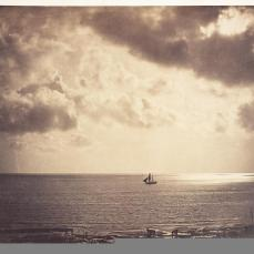 Gustave Le Gray; Brig upon the Water; c.1856; albumen print from collodion-on-glass negative; 31.4 x 40.5 cm; The Detroit Institute of Arts