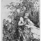 Salvator Rosa; Praying Penitent in the Wilderness; etching and drypoint; 142 x 92 mm; New York