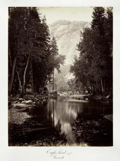 Carleton E. Watkins; Eagle Point, 4,000 feet, Yosemite; c.1876; albumen silver print from glass negative; The Metropolitan Museum of Art