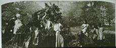 H. P. Robinson; Bringing Home the May; 1862; albumen; 21 x 48.3 cm
