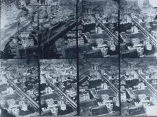 Félix Nadar; Aerial View of the Arc de Triomphe and the Grand Boulevards, Paris, from a Balloon; 1868