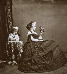Louis Pierson; Countess de Castiglione with Daughter; c.1864