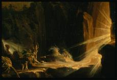 Thomas Cole; Expulsion from the Garden of Eden (detail); 1828; oil on canvas; 100.96 x 138.43 cm; Museum of Fine Arts, Boston