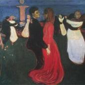 Edvard Munch; Dance of Life; 1899-1900; oil on canvas; 125.73 x 190.5 cm; Nasjonalgalleriet (Norway)