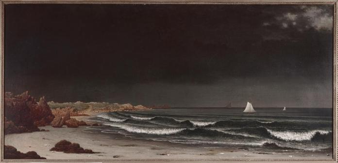 Martin Johnson Heade; Approaching Storm: Beach Near Newport; c.1860's; oil on canvas; 28 x 58 1/4 inches; Museum of Fine Arts, Boston