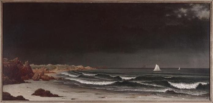 Martin Johnson Heade; Approaching Storm: Beach Near Newport; c.1860's; oil on canvas; 28 x 58 1/4 inches; Museum of Fine Arts, Boston