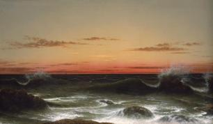 Martin Johnson Heade; Seascape: Sunset; 1861; oil on canvas; 66.04 x 111.76 inches; The Detroit Institute of Arts