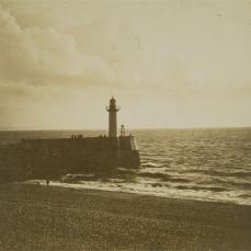 Gustave Le Gray; Lighthouse; c.1855; albumen print; 31.1 x 41.7 cm; George Eastman House, Rochester, NY