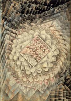 Charles Carrick; Page (36) from the book, Flights of Fancy or Imaginary Scraps; c.1842-77; stenciled transparent and opaque watercolor with pastel on paper; 22.1 x 15.8 cm; Fine Arts Musuem of San Francisco