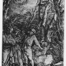 Salvator Rosa; Diogenese Casting Away His Bowl; 1661-62; etching; 453 x 274 mm; Paris BN