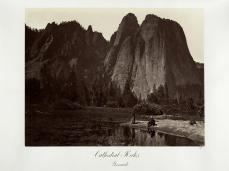 Carlton E. Watkins; Cathedral Rocks, Yosemite; c.1872; albumen silver print from glass negative; The Metropolitan Museum of Art