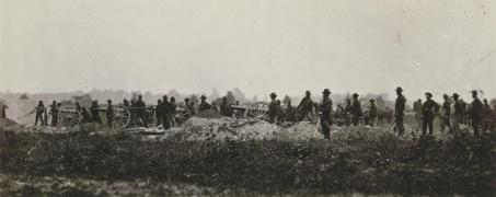 Timothy O'Sullivan; Pennsylvania Light Artillery, Battery B, Petersburg; c.1860; albumen silver print from glass negative; The Metropolitan Museum of Art