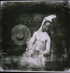 Hippolyte Bayard; Self-portrait as a Drowned Man; 1840; direct paper positive