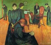Edvard Munch; Death in the Sickroom; c.1892; oil on canvas; 59 x 66 in.; Nasjonalgalleriet (Norway)