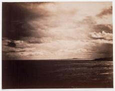 Gustave Le Gray; Cloudy Sky-- The Mediterranean with Mount Agde; 1856-59; albumen print from wet collodion glass plate negative; 31.1 x 39.7 cm; Museum of Fine Arts, Boston