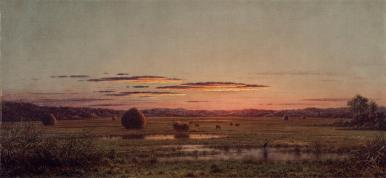 Martin Johnson Heade; Sunset; c.1880; oil on canvas; 43.8 x 92.3 cm; The Detroit Institute of Arts