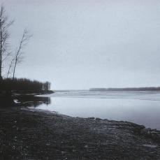 Robert Adams; Missouri River, Clay Canyon South Dakota; 1976; gelatin silver print
