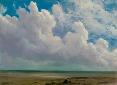 Albert Bierstadt; Beach Scene; c.1873; oil on paper mounted to fiberboard; 48.9 x 61.6 cm; Seattle Art Museum