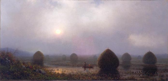 Martin Johnson Heade; The Great Swamp; 1868; oil on canvas; 37.8 x 76.5 cm; Fine Arts Museums of San Francisco