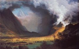 Albert Bierstadt; Storm in the Mountains; c.1870-80; oil on canvas; Museum of Fine Arts, Boston