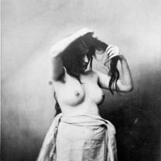 Gustave Le Gray; Standing Female Nude; c.1855; albumen print from wet collodion negatives; 29.5 x 21.9 cm; Sterling and Francine Clark Art Institute. Dept. of Prints, Drawings and Photographs, Williamstown, MA