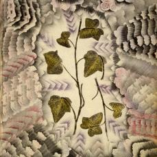 Charles Carrick; Page (136) from the book, Flights of Fancy or Imaginary Scraps; c.1842-77; prints of real leaves, stenciled transparent and opaque watercolor, pastel on paper; 22.1 x 15.8 cm; Fine Arts Museum of San Francisco