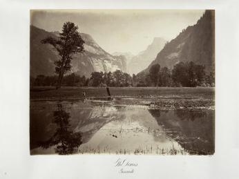 Carlton E. Watkins; The Domes, Yosemite; c.1872; albumen silver print from glass negative