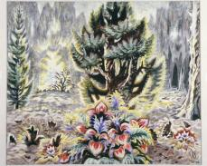 Charles Burchfield; Dream of a Fantasy Flower; 1960-66; watercolor with wiping and scraping; Terra Foundation for American Art