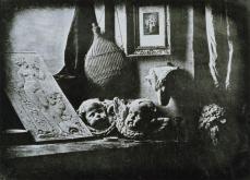 Louis Jaques Mande Daguerre; Still Life in the Artist's Studio; 1837; daguerrotype; 16.5 x 21.6 cm