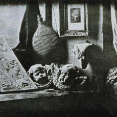Louis Jaques Mande Daguerre; Still Life in the Artist's Studio; 1837; daguerrotype; 16.5 x 21.6 cm