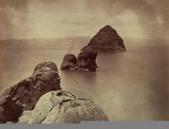 Timothy O'Sullivan; Tufa Domes, Pyramid Lake, Nevada; 1867; albumen print on paper mounted on paperboard; 20.0 x 27.0 cm; Smithsonian American Art Musuem