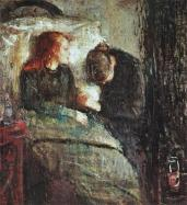 Edvard Munch; Sick Child; 1885-6; oil on canvas; 119.5 x 118.5 cm; Nasjonalgalleriet (Norway)