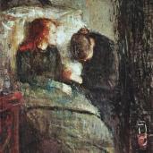 Edvard Munch; Sick Child; 1885-6; oil on canvas; 119.5 x 118.5 cm; Nasjonalgalleriet (Norway)