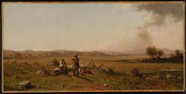 Martin Johnson Heade; Hunters Resting; 1863; oil on canvas; 30.48 x 61.28 cm; Museum of Fine Arts Boston