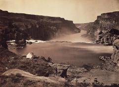 Timothy O'Sullivan; Shoshone Falls, Looking Over Southern Half of Falls; 1868; 19.5 x 27.0 cm