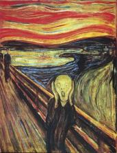 Edvard Munch; Scream; 1893; oil; Nasjonalgalleriet (Norway)