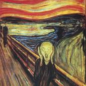 Edvard Munch; Scream; 1893; oil; Nasjonalgalleriet (Norway)