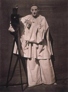 Félix Nadar; Pierrot the Photographer; 1854-55; gelatin-coated salted paper print