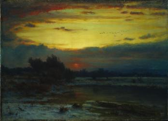George Inness; A Winter Sky; 1866; oil on canvas; 56 x 77.5 cm; The Cleveland Museum of Art