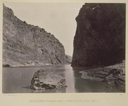 Timothy O'Sullivan; Black Canon, Colorado River; 1871; albumen print; 20.2 x 27.4 cm