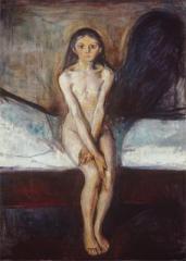 Edvard Munch; Puberty; 1893; 151 x 110 cm; Nasjonalgalleriet (Norway)