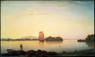 Fitz Hugh Lane; Owl's Head, Penobscot Bay, Maine; 1862; oil on canvas; 40 x 66.36 cm; Museum of Fine Arts, Boston