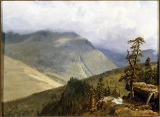 Albert Bierstadt; New England Landscape (White Mts., N.H.); Oil on cardboard; 28.5 x 38.7 cm; The John and Mable Ringling Museum of Art