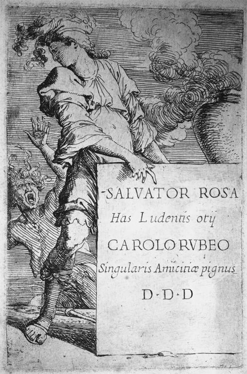 Salvator Rosa; Frontispiece to the 'Figures' series; approx. 145 x95 mm; London
