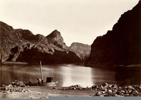 Timothy O'Sullivan; Black Canyon, From Camp 8, Looking Above; 1871; albumen silver print from glass negative; 20 x 28.1 cm; The Metropolitan Museum of Art