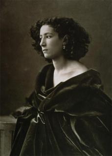 Félix Nadar; Sarah Bernhardt; c.1866; print from collodion negative