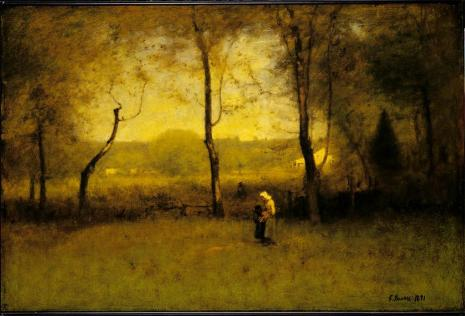 George Inness; Wood Gathererers: An Autumn Afternoon; 1891; oil on canvas; 76.2 x 114.6 cm; Sterling and Francine Clark Art Institute, Williamstown, MA, USA