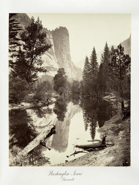 Carleton E. Watkins; Washington Tower, Yosemite; c.1876; Albumen silver print from glass negative; The Metropolitan Museum of Art